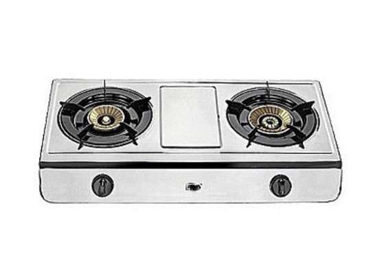 2 burner stainless steel. image 1