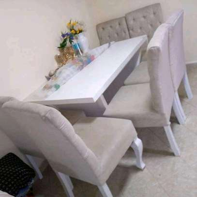 Tufted dining table set image 1