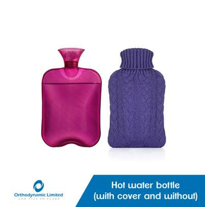 Hot water bottle with cover image 1