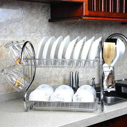 Stainless steel dish rack image 1