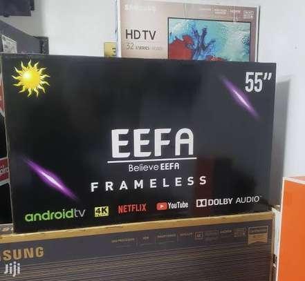EEFA 55 Inches Frameless Android UHD-4K Smart Digital TVs image 1