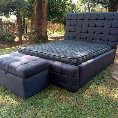 Majestic Modern Quality Upholstered King-size Bed + Storage Box image 1
