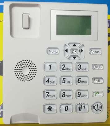 SQ LS 180 Dual Sim Desktop Office Phone With FM Radio 2000mah Battery image 1