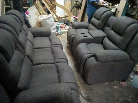 Grey 5 recliner seater