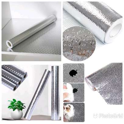 Silver Kitchen Aluminum Foil Shelf Mat. image 1
