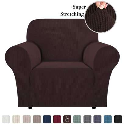 Stretchable Sofa Seat Cover 1 Seater image 1
