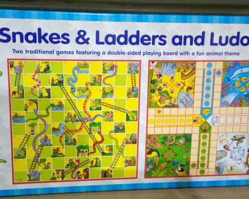 Snakes and ladders and ludo board game