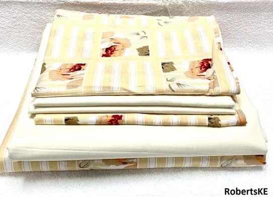 cream-beige bedsheet 6by6 image 1