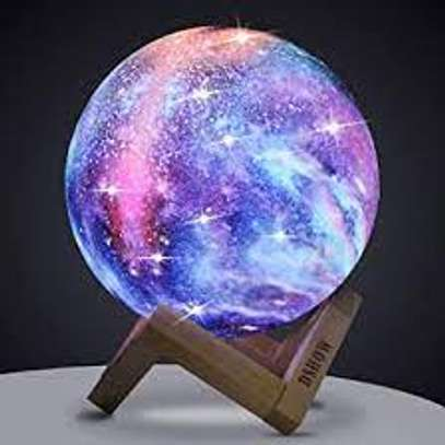 18cm 3D Print Star Moon Lamp 7 Colors Change Touch Home Decor Creative Gift USB LED Night Light Galaxy Lamp image 1