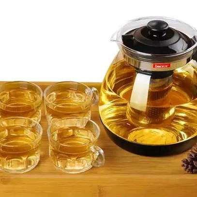 Glass Tea Pot with Stainless Steel Infuser image 1