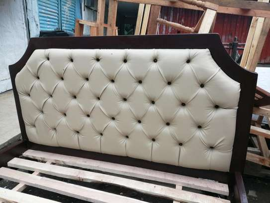 5 by 6 deep button leather bed image 4