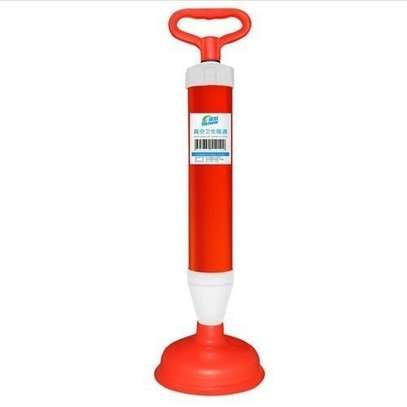 Powerful Manual Drain Buster Plunger Toilet Sewer Dredge Device Inflator - Red image 1