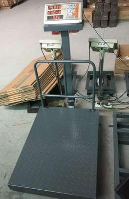 500kg digital weighing machine folding platform scale with big pan image 1