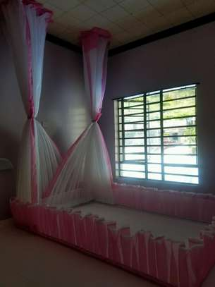 Rail Shears Mosquito Nets Sliding Like Curtains Fixed On The Ceiling image 6
