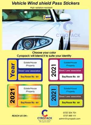 Vehicle Wind Shield Sticker image 1