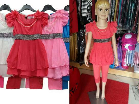Girls Leggings & Dress Set From UK image 2