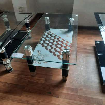 Transparent Glass Coffee Table image 1
