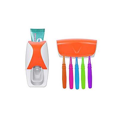 Automatic Toothpaste Dispenser Set with 5 Toothbrush Holder