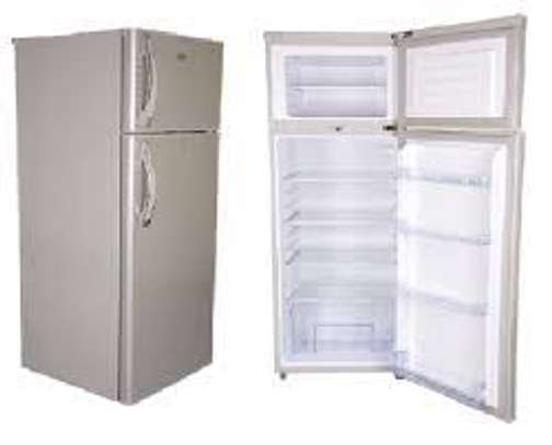 Mika Refrigerator, 138L, Direct Cool, Double Door, Black Brush image 1