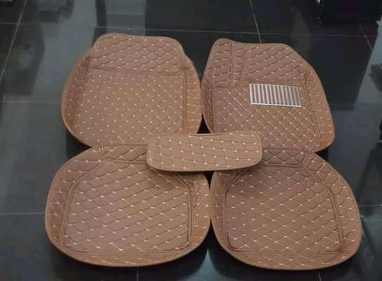 All Weather Waterproof Synthetic Leather Car Floor Mats (Set of 5pcs) image 1