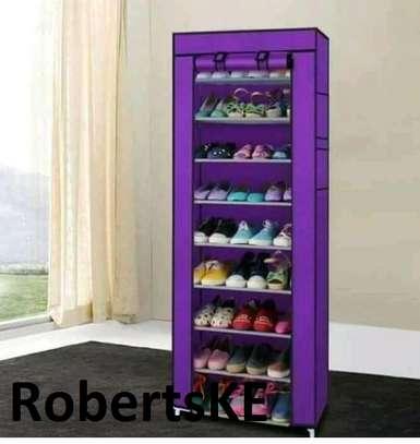 purple stylish shoerack image 1