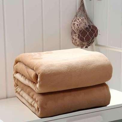 Orange fleece blanket image 5