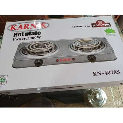 Electric Table Top Two Burners Spiral/ Coil Hot Plate Cooker image 2