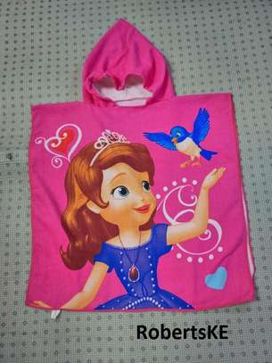 kids hooded towel image 1