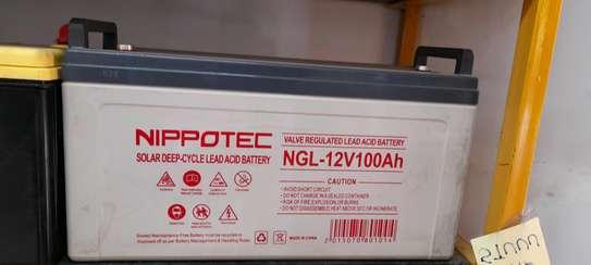 Nippotec Solar Deep Cycle Lead ACID 100ah Battery image 2