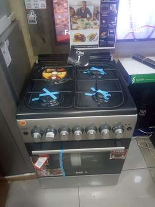 Mika standing cooker 3gas 1electric 60*60 color silver