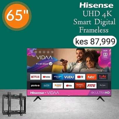 Hisense 65 Inch 4K UHD Frameless - August sale image 1