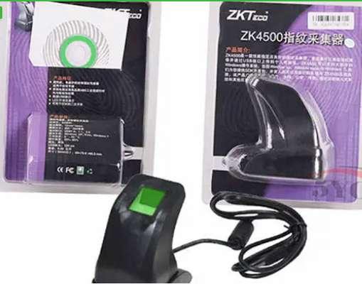 Fingerprint Reader Scanner Sensor ZKT ZK4500 With USB Cable image 1