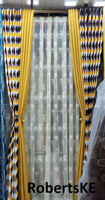 stripped double sided curtain