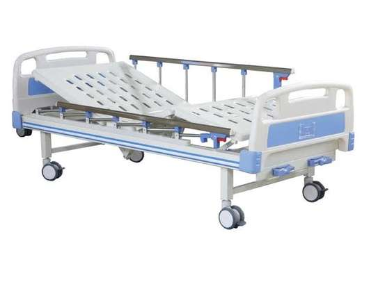 Hospital Manual Double crank Bed - Two function bed image 2