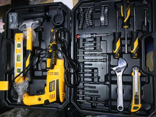 TOOL BOX WITH DRILL SET image 1