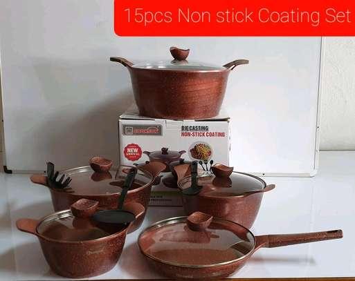 15PCS Diecasting Non Stick Cookware Set image 1