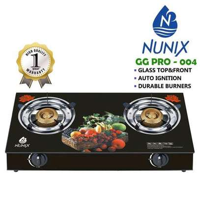 glass table top double burner image 1