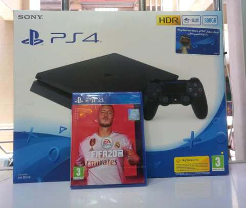 PS4 Slim 500gb + FIFA 20 game bundle image 1
