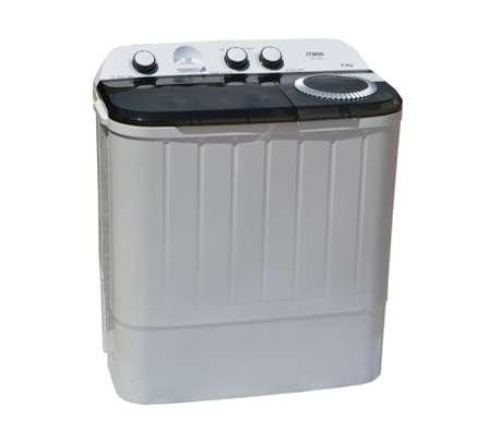 Washing Machine, Semi-Automatic Top Load, Twin Tub, 6Kg, White & Grey image 2