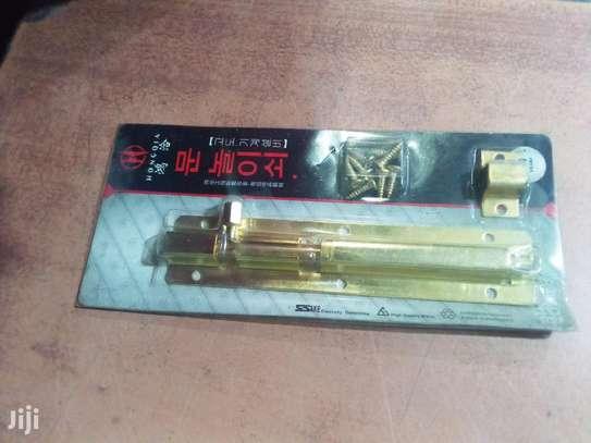 """Brass Tower Bolt 5"""" image 1"""