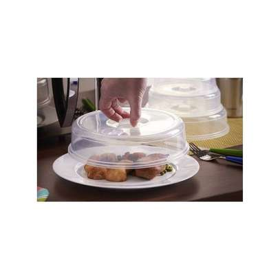 Set of 2 Ventilated Microwave Plate Covers – Microwave Food Covers (+ Free Gift Hand Towel). image 3