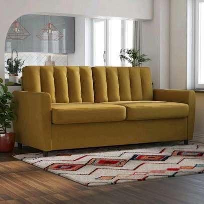 Yellow three seater sofa for sale in Nairobi Kenya/Best sofa ideas/sofa designs image 1