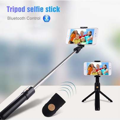 K05 Selfie Stick Tripod Stand 4 in 1 Extendable Monopod Bluetooth Remote Phone Mount for iPhone X 8 Android Gopro image 5