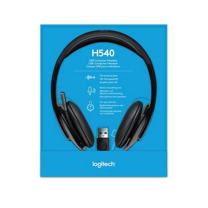 Logitech H540 - Full Stereo USB Headset with Microphone - Black image 1
