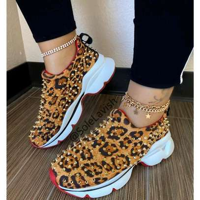 Flat Leopard Pattern Breathable and Comfortable Lazy Shoes image 1