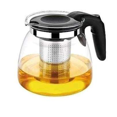 Glass Tea Pot with Stainless Steel Infuser image 2