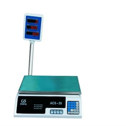 Electronic Digital Price Computing Platform Scale ACS-30 200g to 30kg(White) image 1