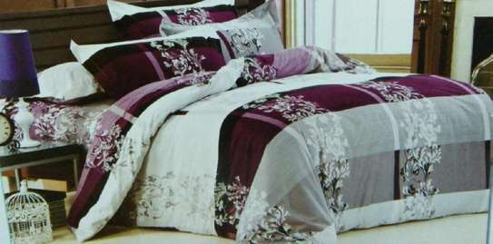 duvet 5 by 6  maroon and white prints image 1