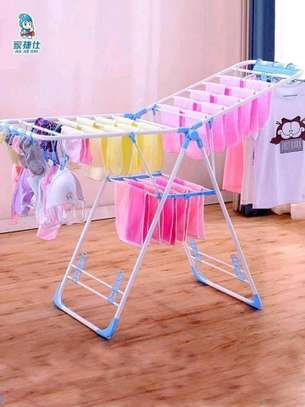 Outdoor foldable cloth drying  rack image 1