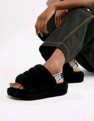 Ladies Flaffy Flip flops image 3